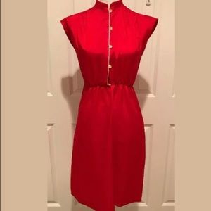 XS Vintage 70s Dress nylon Has marks red
